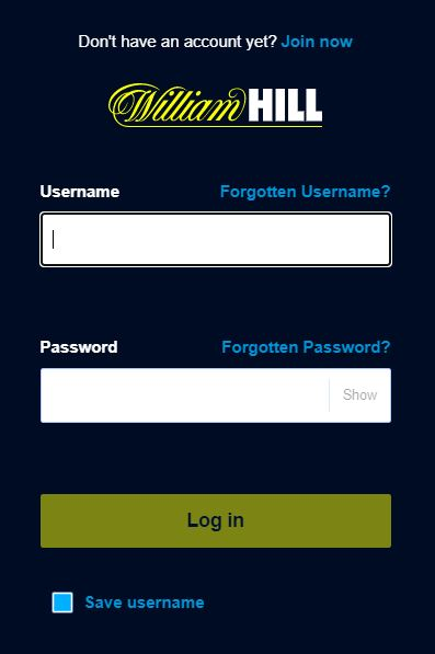 William Hill Casino Log in